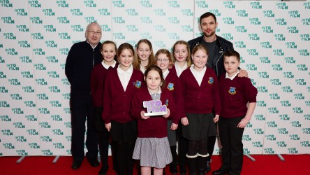 Stratton Primary School at the Into Film Awards with Ed Skrein