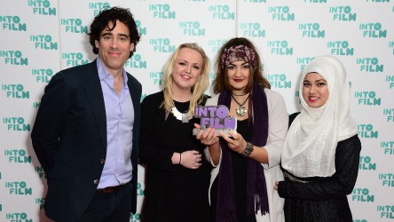 Stephen Mangan with winners of Best Documentary 13 and over