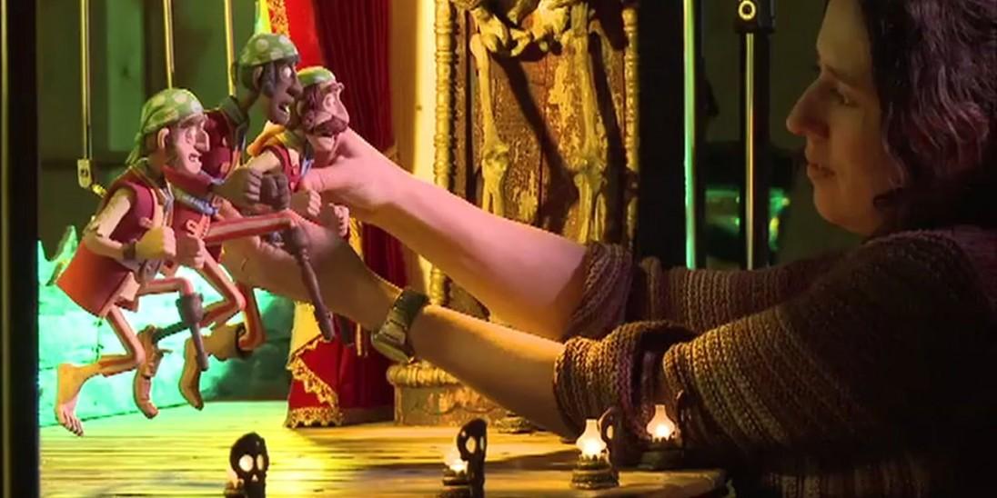 Resource aardman studios pirates set visit into film for Model chicken set