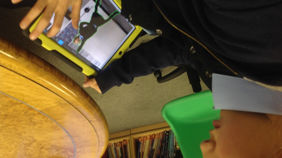 Pupil filmmaking using tablet