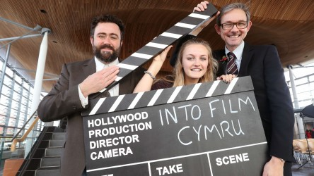 Senedd Event, Into Film CEO Paul Reeve and Actor and Into Film Ambassador C