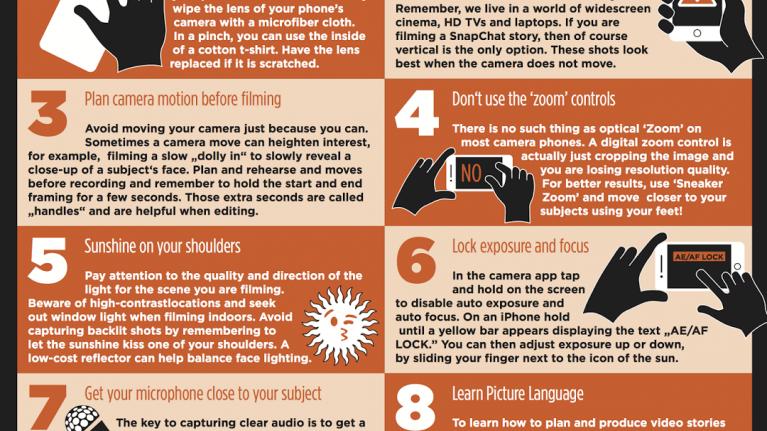Ten smartphone filmmaking tips