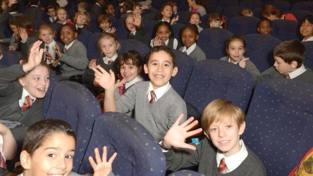 Young people in a cinema