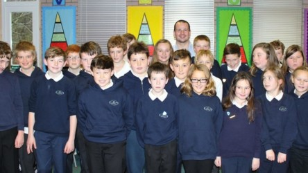 David Stoddart visits Park Primary, Oban