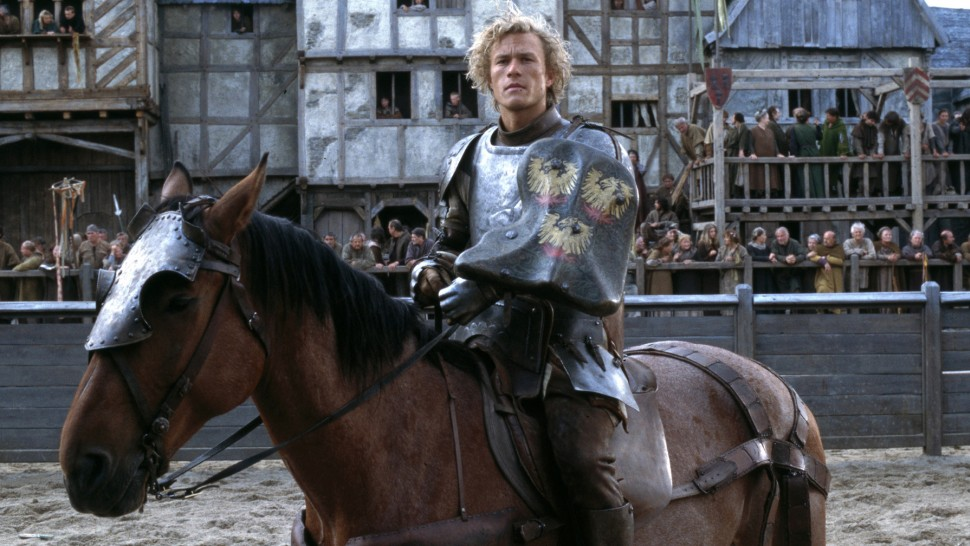 a knights tale After his master dies, a peasant squire, fueled by his desire for food and glory, creates a new identity for himself as a knight.